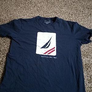 Mens nautica navy blue short sleeve shirt tee